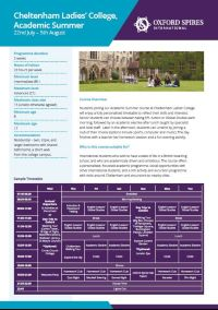 Cheltenham Ladies' College Academic Summer School